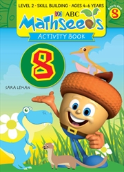 ABC Mathseeds Activity Book 8 Level 2 Ages 4-6 | Paperback Book