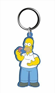 Keyring Soft Touch The Simpsons Homer Simpson with Donut | Accessories