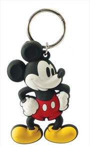 Keyring Soft Touch Retro Mickey Mouse | Accessories