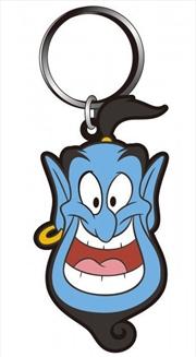 Keyring Soft Touch Aladdin Genie Head | Accessories