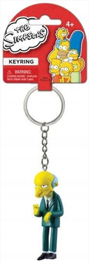 Keyring PVC Figural The Simpsons Montgomery Burns | Accessories
