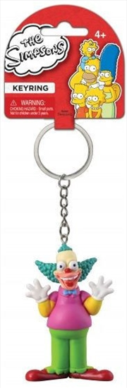 Keyring PVC Figural The Simpsons Krusty the Clown | Accessories