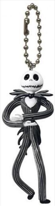 Keyring PVC Bendable Keyring A Nightmare Before Christmas Jack Skellington | Accessories