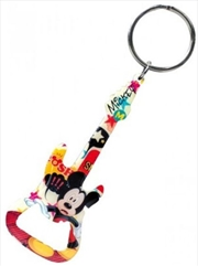 Keyring Pewter Bottle Opener Mickey Mouse Guitar | Accessories