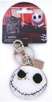 Keyring Pewter Two Sided Coloured A Nightmare Before Christmas Jack Skellington | Accessories