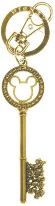 Keyring Pewter Disney Master Key with Gem Beads (Gold) | Accessories