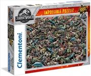 Clementoni Puzzle Jurassic World Impossible Puzzle 1000 Pieces   Merchandise