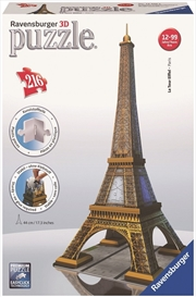 Ravensburger - 216pc Eiffel Tower 3D Jigsaw Puzzle | Merchandise