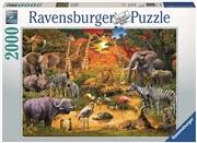 Ravensburger - 2000pc Gathering at the Waterhole Jigsaw Puzzle | Merchandise