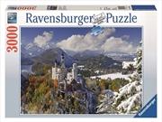 Ravensburger - 3000pc Neuschwanstein Winter Jigsaw Puzzle | Merchandise
