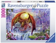 Ravensburger - 1000pc Dragon Kingdom Jigsaw Puzzle | Merchandise