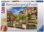 Ravensburger - 500pc Lauterbrunnen, Switzerland Jigsaw Puzzle | Merchandise