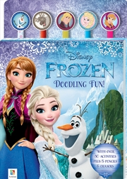 Disney Frozen 5-Pencil and Eraser Set | Paperback Book