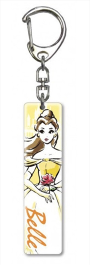 Keyring Lucite Crystal Clear Princess Beauty and the Beast Belle | Accessories