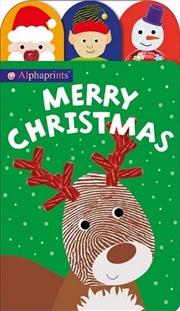 Alphaprints Merry Christmas   Hardback Book
