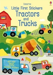 Little First Stickers Tractors and Trucks | Paperback Book