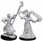 Pathfinder - Deep Cuts Unpainted Miniatures: Male Human Sorcerer | Games