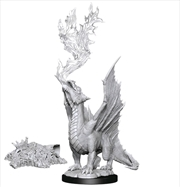 Dungeons & Dragons - Nolzur's Marvelous Unpainted Minis: Gold Dragon Wyrmling & Treasure | Games