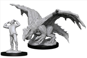Dungeons & Dragons - Nolzur's Marvelous Unpainted Minis: Green Dragon Wyrmling & Elf   Games