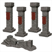WizKids - Deep Cuts Unpainted Miniatures: Pillars & Banners | Games
