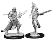 Pathfinder - Deep Cuts Unpainted Miniatures: Male Elf Magus (Magic) | Games