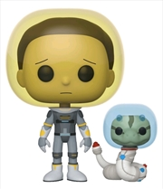 Rick and Morty - Morty Space Suit with Snake Pop! Vinyl | Pop Vinyl