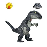 Jurassic World: Fallen Kingdom Velociraptor Adult Inflatable Costume With Sound - One Size | Apparel