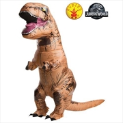 Jurassic World Inflatable T-Rex with Sound Costume for Adults - Standard | Apparel