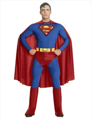 Superman Adult Costume: Size L   Apparel
