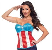 American Dream Sequin Corset - Large | Apparel