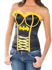 Batgirl Corset Adult Costume: Size Large | Apparel