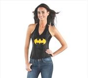 Batgirl Leather Look Corset: Medium | Apparel