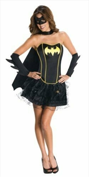 Batgirl Sexy Corset Dress Costume Adult - Small | Apparel