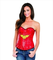 Wonder Woman Sequin Corset: Large | Apparel
