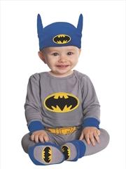 Batman Onesie Grey/Blue: 6-12m | Apparel