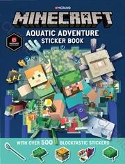 Minecraft Aquatic Adventure Sticker Book   Paperback Book