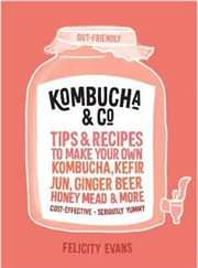 Kombucha And Co - Tips and recipes to make your own kombucha, kefir, jun, ginger beer, honey mead an | Paperback Book