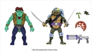 "Teenage Mutant Ninja Turtles - Cartoon Leatherhead & Slash 7"" Action Figure 2-pack 