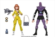 "Teenage Mutant Ninja Turtles - Cartoon April O'Neil & Foot Soldier 7"" Action Figure 2-pack 