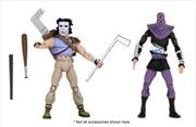 "Teenage Mutant Ninja Turtles - Cartoon Casey Jones & Foot Soldier 7"" Action Figure 2-pack 