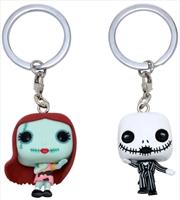 The Nightmare Before Christmas - Jack & Sally US Exclusive Pocket Pop! Keychain 2-Pack [RS]1 | Pop Vinyl