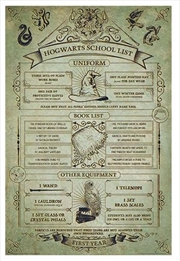 Harry Potter - Hogwarts School List | Merchandise