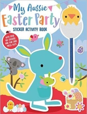 My Aussie Easter Party Sticker Activity Book with Chick Pen Topper | Board Book