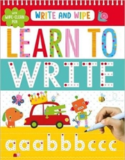 Write & Wipe Learn to Write | Spiral Bound