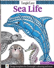 Tangle Easy: Sea Life | Colouring Book