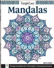 Tangle Easy: Mandalas | Colouring Book