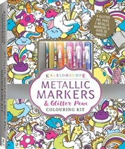 Kaleidoscope Colouring Metallic Pen Kit | Hardback Book