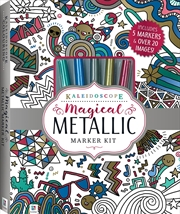 Kaleidoscope Magical Metallic Marker Kit | Colouring Book