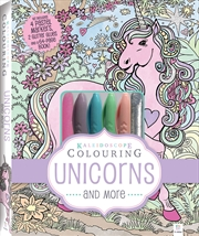 Kaleidoscope Pastel Colouring Kit: Unicorns and More | Colouring Book