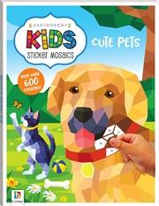 Kaleidoscope Kids Sticker Mosaics: Cute Pets | Paperback Book